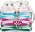 """Luxury Accessories:Bags, Chanel White Leather Venise Biarritz Drawstring Bucket Bag with Silver Hardware . Condition: 2. 8.5"""" Width x 8 Height ..."""