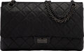 """Luxury Accessories:Bags, Chanel So Black Quilted Aged Calfskin Leather 2.55 Reissue -226 Double Flap Bag with PVD Hardware. Condition: 4. 11"""" W..."""
