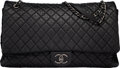 """Luxury Accessories:Bags, Chanel Black Quilted Calfskin Leather XXL Airline Flap Bag with Ruthenium Hardware. Condition: 2. 18"""" Width x 10"""" Heig..."""