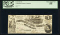 Confederate Notes:1862 Issues, T44 $1 1862 PCGS Choice About New 55.. ...