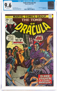 Tomb of Dracula #25 (Marvel, 1974) CGC NM+ 9.6 White pages