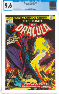 Tomb of Dracula #27 (Marvel, 1974) CGC NM+ 9.6 White pages