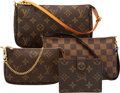 Luxury Accessories:Bags, Louis Vuitton Set of Four: Pochettes and Wallet. Condition: 3. See Extended Condition Report for Sizes.. ... (Total: 4 Items)