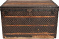 """Luxury Accessories:Travel/Trunks, Louis Vuitton Damier Ebene Monogram Coated Canvas Steamer Trunk, Late 19th Century. Condition: 4. 43"""" Width x 27"""" He..."""