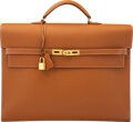 """Luxury Accessories:Bags, Hermès 38cm Gold Epsom Leather Kelly Depeche Briefcase with Gold Hardware. K Square, 2007. Condition: 4. 14.5"""" Wid..."""