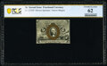 Fractional Currency:Second Issue, Fr. 1232SP 5¢ Second Issue Narrow Margin Face PCGS Banknote Uncirculated 62.. ...