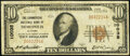 National Bank Notes:Alabama, Demopolis, AL - $10 1929 Ty. 1 The Commercial National Bank Ch. # 10035 Fine-Very Fine.. ...