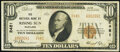 National Bank Notes:Maryland, Rising Sun, MD - $10 1929 Ty. 2 The National Bank of Rising Sun Ch. # 2481 Very Fine.. ...