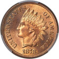 Indian Cents, 1878 1C MS66+ Red PCGS. CAC....