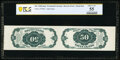 Fractional Currency:Fifth Issue, Milton 5E50R.3a 50¢ Fifth Issue Tête-Bêche Horizontal Pair PCGS Banknote About Uncirculated 55.. ...