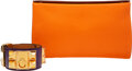 Luxury Accessories:Accessories, Hermès Set of Two: Karo PM Pouch and Collier de Chien Bracelet. Condition: 2. See Extended Condition Report for Sizes.... (Total: 2 )
