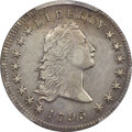Early Dollars, 1795 $1 Flowing Hair, Two Leaves, B-1, BB-21, R.2 -- Cleaned -- PCGS Genuine. XF Details....