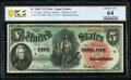 Large Size:Legal Tender Notes, Fr. 64 $5 1869 Legal Tender PCGS Banknote Choice Unc 64.. ...
