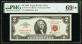 Small Size:Legal Tender Notes, Fr. 1513 $2 1963 Legal Tender Note. PMG Superb Gem Unc 69 EPQ*.. ...