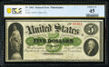 Fr. 2 $5 1861 Demand Note PCGS Banknote Choice XF 45