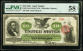Fr. 95 $10 1863 Legal Tender PMG Choice About Unc 58 EPQ