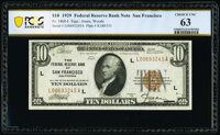 Fr. 1860-L $10 1929 Federal Reserve Bank Note. PCGS Banknote Choice Unc 63