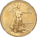 1986 $50 One-Ounce Gold Eagle -- Double Struck, Partial Collar -- MS69 NGC