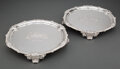 Silver & Vertu, A Pair of Paul Storr Silver Salvers, London, 1814. Marks to each: (lion passant), (crowned leopard's head), (duty mark), T... (Total: 2 )