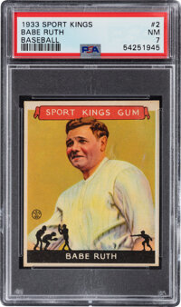 1933 Sport Kings Baseball Babe Ruth #2 PSA NM 7