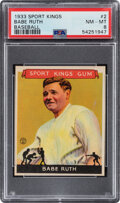 Baseball Cards:Singles (1930-1939), 1933 Sport Kings Babe Ruth #2 PSA NM-MT 8--Only Three Superior!...