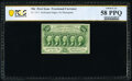 Fractional Currency:First Issue, Fr. 1311 50¢ First Issue PCGS Banknote Choice About Unc 58 PPQ.. ...