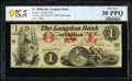 Obsoletes By State:New Hampshire, Dover, NH- Langdon Bank $1 Jan. 1, 1862 G2b PCGS Banknote Very Fine 30 PPQ.. ...