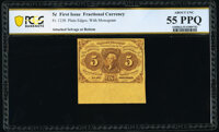 Fr. 1230 5¢ First Issue PCGS Banknote About Unc 55 PPQ