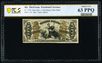 Fr. 1370 50¢ Third Issue Justice PCGS Banknote Choice Uncirculated 63 PPQ