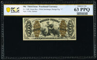 Fr. 1368 50¢ Third Issue Justice PCGS Banknote Choice Uncirculated 63 PPQ