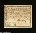 Colonial Notes:Rhode Island, Rhode Island July 2, 1780 $1 Choice Crisp Uncirculated. ...