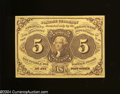 Fractional Currency:First Issue, Fr. 1230 5c First Issue Choice Crisp Uncirculated.A very ...