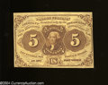 Fractional Currency:First Issue, Fr. 1230 5c First Issue Choice Crisp Uncirculated.A tight ...