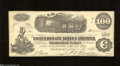 Confederate Notes:1862 Issues, CT40/298 $100 1862. A lateral fold graces this scarce ...