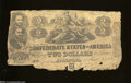 Confederate Notes:1862 Issues, T42 $2 1862. This pair will not win the Miss CSA beauty ... (2notes)