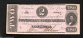 Confederate Notes:1862 Issues, T54 $2 1862. A fold and a corner fold are the only signs ...