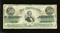 Confederate Notes:1863 Issues, T57 $50 1863. Only a couple of folds are found on this $50 ...