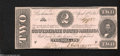 Confederate Notes:1863 Issues, T61 $2 1863. Here is a Second Series $2 that has only a ...