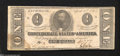 Confederate Notes:1863 Issues, T62 $1 1863. Corner folds and a moisture spot in the lower ...