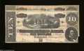 Confederate Notes:1864 Issues, T68 $10 1864 Two Examples. One note displays the variety ... (2 notes)