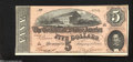 Confederate Notes:1864 Issues, T69 $5 1864. Bold front and back color decorate this $5.