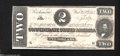 Confederate Notes:1864 Issues, T70 $2 1864. Square corners and flawless paper adorn this $...