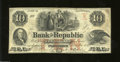 Obsoletes By State:Rhode Island, Providence, RI- Bank of the Republic $10 Dec. 20, 1855