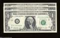 Error Notes:Ink Smears, Fr. 1905-B $1 1969-B Federal Reserve Notes. Three ... (3 notes)