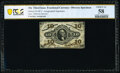 Fractional Currency:Third Issue, Fr. 1253 10¢ Third Issue Narrow Margin Specimen Face PCGS Banknote Choice About Uncirculated 58.. ...