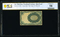 Fractional Currency:Fifth Issue, Milton 5E10R.2 10¢ Fifth Issue Experimental PCGS Banknote Choice About Uncirculated 58.. ...