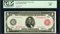 Fr. 833b $5 1914 Red Seal Federal Reserve Note PCGS Gem New 65