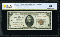 Fr. 1870-D* $20 1929 Federal Reserve Bank Star Note. PCGS Banknote Extremely Fine 40