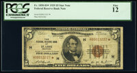 Fr. 1850-H* $5 1929 Federal Reserve Bank Star Note. PCGS Fine 12