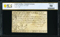 Colonial Notes:South Carolina, South Carolina February 8, 1779 $100 PCGS Banknote About Unc 50 Details.. ...